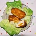 Kotlety devolay z piersi kurczaka z brzoskwiniami