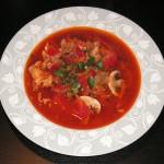zupa z łososia z pieczarkami