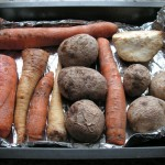 Upieczone i ostudzone warzywa