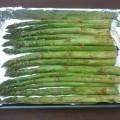 pieczone zielone szparagi