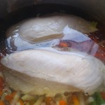 lekki rosół z piersi kurczaka