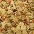 Sałatka jarzynowa z kiełkami fasoli mung