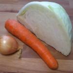 Składniki salatki coleslaw