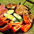 Cukinie i papryka na grillu