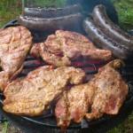 Kaszanka z karkówką na grillu