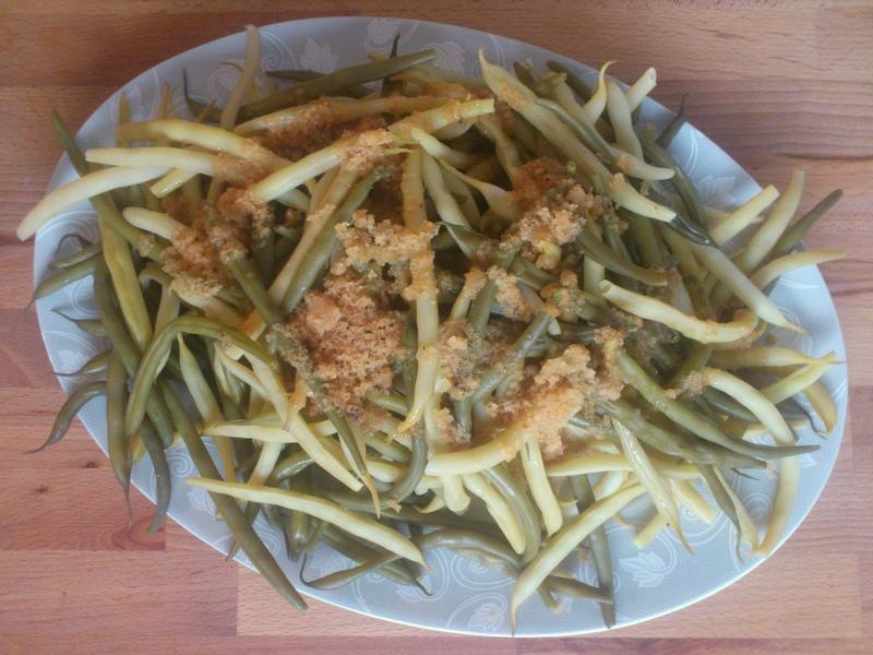 Ugotowana fasolka szparagowa