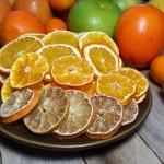 Suszone cytrusy - mandarynki, pomarańcze, cytryny