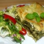 Lazania ze szpinakiem i serem Feta