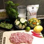 Zielone tajskie curry - składniki